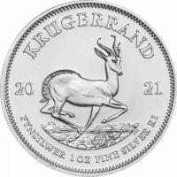 Krugerrand 1 OZ Striebro 2021